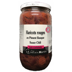 Haricots rouges sauce Chili au piment Basque